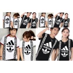 Adidas Selendang - Baju / Kaos / Oblong / Couple / Pasangan / Kombinasi / Katun Combed