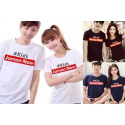 Kids Jaman Now - Baju / Kaos / Oblong / Couple / Pasangan / Kombinasi / Katun Combed