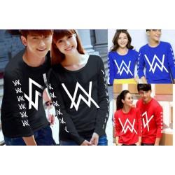 LP Alan Walker Logo - Baju / Kaos / Oblong / Couple / Pasangan / Kombinasi / Katun Combed
