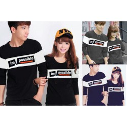 LP Im Possible - Baju / Kaos / Oblong / Couple / Pasangan / Kombinasi / Katun Combed