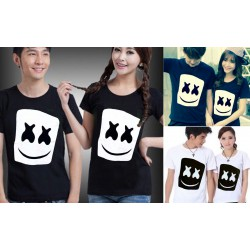 Marshmello Head - Baju / Kaos / Oblong / Couple / Pasangan / Kombinasi / Katun Combed