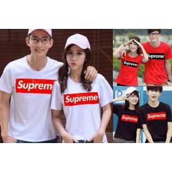 Supreme Couple - Baju / Kaos / Oblong / Couple / Pasangan / Kombinasi / Katun Combed
