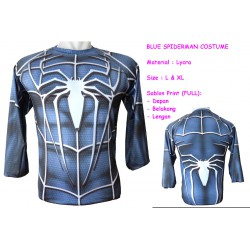 LP Blue Spider Man Costume - Kaos / Full Print / Thailand / Distro / Unisex / All Size / 3D