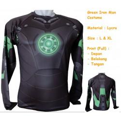LP Green Iron Man Costume - Kaos / Full Print / Thailand / Distro / Unisex / All Size / 3D