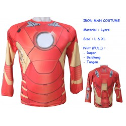 LP Iron Man Costume - Kaos / Full Print / Thailand / Distro / Unisex / All Size / 3D