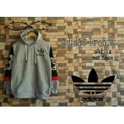 Men Jacket Adidas Grey - Jaket / Mantel / Hoodie / Pria / Grosir / Kasual / Nyaman / Tebal / Fleece