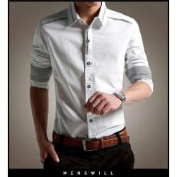 Hem Ivan White - Kemeja Pria / Slim Fit / Formal / Kasual / Unik / Grosir / Murah / Stylish
