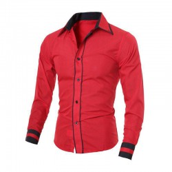 Hem Randhy Red - Atasan Pria / Slim Fit / Formal / Kasual / Unik / Grosir / Murah / Stylish