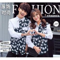 Bird Love White - Baju / Kemeja / Fashion / Couple / Pasangan / Batik / Pesta