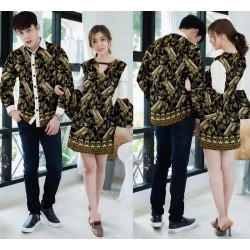 Dress Prada Latte Gold - Dress / Busana / Fashion / Couple / Pasangan / Pesta / Kondangan / Elegan