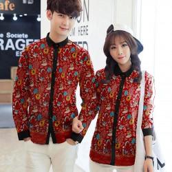 Prada Red - Baju / Kemeja / Fashion / Couple / Pasangan / Pesta / Kondangan / Elegan