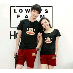 CS Paul Black Maroon - Baju / Kaos / Oblong / Stelan / Couple / Pasangan / Kasual