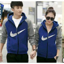 Jaket Kimono Nike Benhur Grey - Mantel / Busana / Fashion / Couple / Pasangan / Babyterry / Sporty