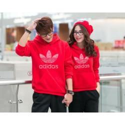 Jumper Adidas Red - Mantel / Busana / Fashion / Couple / Pasangan / Babyterry / Sporty