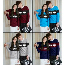 Sweater Only You - Mantel / Busana / Fashion / Couple / Pasangan / Babyterry / Kasual