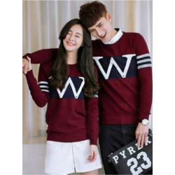 Sweater Wonder Neo Maroon Black - Mantel / Busana / Fashion / Couple / Pasangan / Babyterry / Kasual
