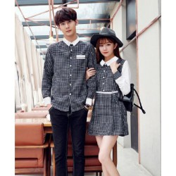Dress Kotak Cherry - Dress / Busana / Fashion / Couple / Pasangan / Kasual / Elegan
