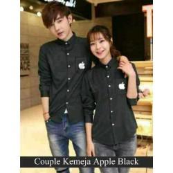 Hem Couple Apple Black - Baju / Busana / Kemeja / Fashion / Couple / Pasangan / Kasual