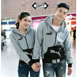 Jaket Puma Pocket Misty Black - Mantel / Busana / Fashion / Couple / Pasangan / Babyterry / Sporty