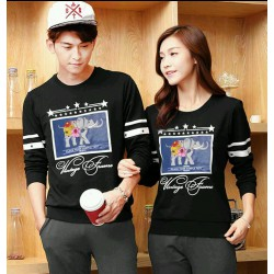 Sweater Classic Black - Mantel / Busana / Fashion / Couple / Pasangan / Babyterry / Kasual