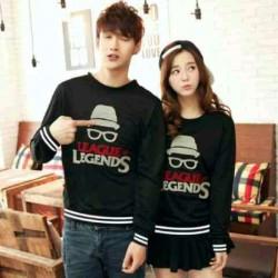 Sweater Legends Black - Mantel / Busana / Fashion / Couple / Pasangan / Babyterry / Kasual
