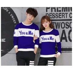 Sweater You Me Neo Benhur White - Mantel / Busana / Fashion / Couple / Pasangan / Babyterry / Kasual
