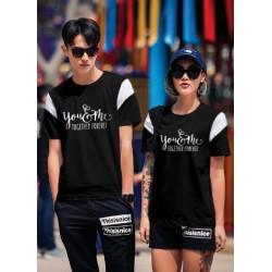 CP Together Black - Baju / Kaos / Oblong / Couple / Pasangan / Kasual