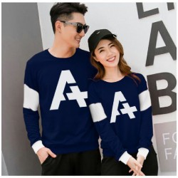 Sweater Alpha Neo Navy - Mantel / Busana / Fashion / Couple / Pasangan / Babyterry / Kasual