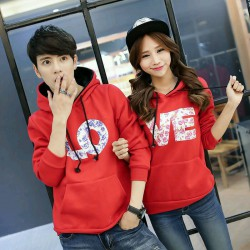 Jumper Flow Red - Busana / Fashion / Couple / Pasangan / Babyterry / Kasual / Korea