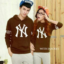 Jumper New York Brown - Busana / Fashion / Couple / Pasangan / Babyterry / Kasual / Korea