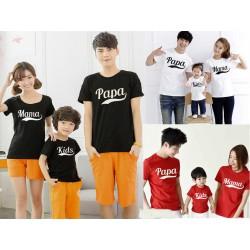 FM Papa Mama - Kaos / Family / 1 Anak / Couple / Fashion / Pasangan / Supplier / Grosir / Murah / Unik