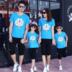 FM2 Blue Doraemon - Baju Family / Family Couple / Baju Keluarga