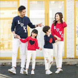 FM2 Sweater Love Susun - Baju Keluarga / Family Couple / Grosir Couple