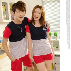 Sailor Kombinasi - Supplier / Kaos / Couple / Pasangan / Lengan Pendek / Jual