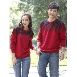 Sweater Abjad Merah - Sweater Couple / Fashion / Supplier / Grosir