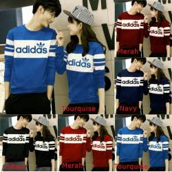 Sweater Adidas Logo - Sweater Couple / Baju Pasangan/ Supplier /Couple