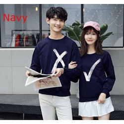 Sweater Wrong Right Navy - Sweater Couple / Supplier Couple / Pasangan / Fashion Couple