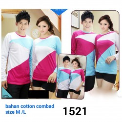 LP Triangle Kombinasi - Supplier / Kaos / Tshirt / Baju / Busana / Oblong / Couple / Pasangan / Lengan Panjang / Grosir / Murah