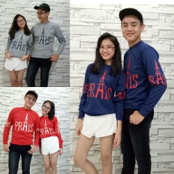 Sweater Paris Prais - Mantel / Busana / Fashion / Couple / Pasangan / Babyterry / Kasual