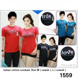 True Love Snow - Kaos / TShirt / Couple / Fashion / Pasangan / Supplier / Grosir / Murah / Unik