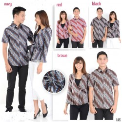 Baik Samantha - Kemeja Couple / Batik Couple / Pasangan / Supplier / Couple